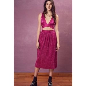For Love and Lemons Marion Crop Top and Skirt Set